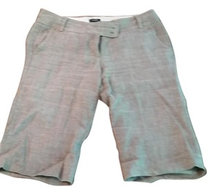 J.Crew Linen Button Fly City Fit Bermuda Shorts taupe
