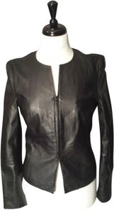 Calvin Klein Leather Lightweight Slim Feminine Lines Versatile Leather Jacket