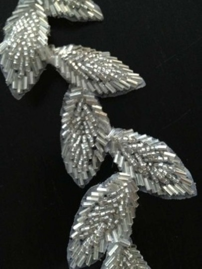 Lovely Day Silver Bugle Beads Clip Vine - Adjustable Hair Accessory