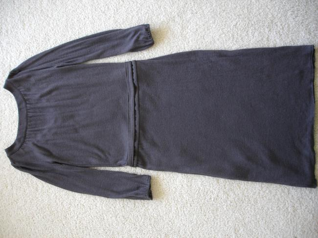 Velvet by Graham & Spencer Wool Tie Waist Knit Pleated Gathered Dress Image 6