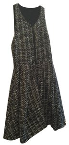 Alex + Alex short dress gray and white tweed Zipper on Tradesy