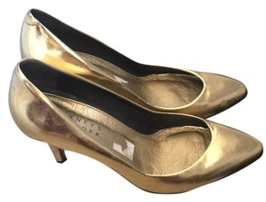 Barneys New York Gold Pumps