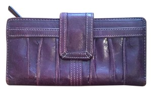 Fossil Fossil Leather Wallet and Coin Purse in Plum