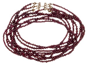 Other Garnet Necklace 3 Strands,40