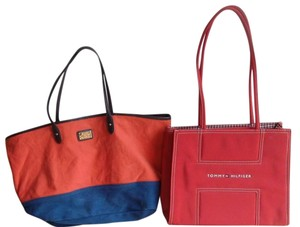 Ralph Lauren Tote in Red/Blue