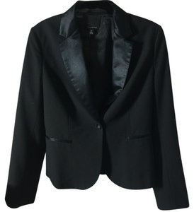 The Limited Black Satin Collar Jacket