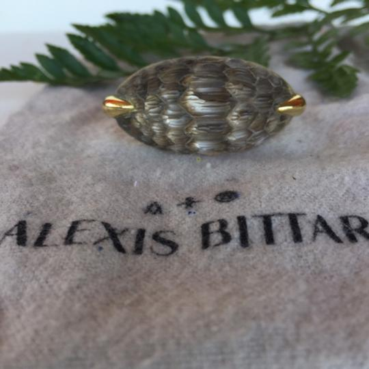 Alexis Bittar Alexis Bittar opalescent lucite gold ring Image 1