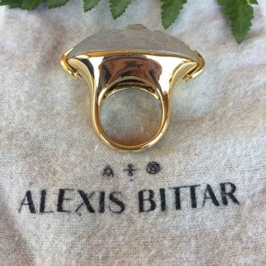 Alexis Bittar Alexis Bittar opalescent lucite gold ring Image 2