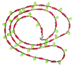Other Red And Green Crystal 36 inch Necklace