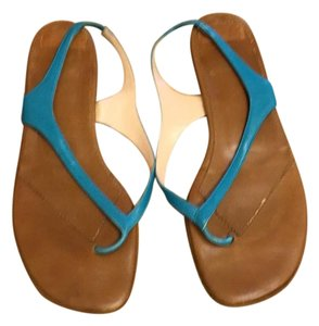 Christian Louboutin Thong Teal Summer Blue Sandals