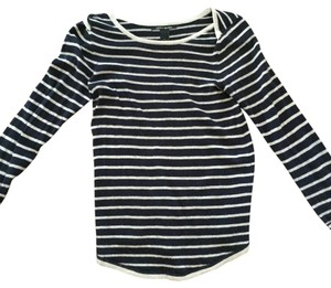 Lucky Brand Stripe Sweater Comfy Warm Top Blue and White