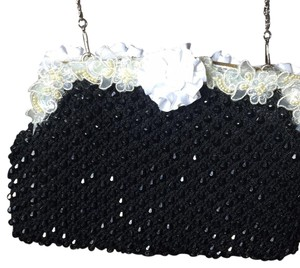 M. Rena Black Crystal Shoulder Bag Signed and Mint beading