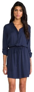 Splendid short dress Blue Shirt Elastic Waist on Tradesy