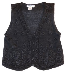 MY Vest Crochet Clearance Top Black