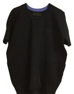 Rag & Bone & Oversized Short Sleeve Top Black