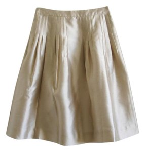 J.Crew Pleated Skirt beige