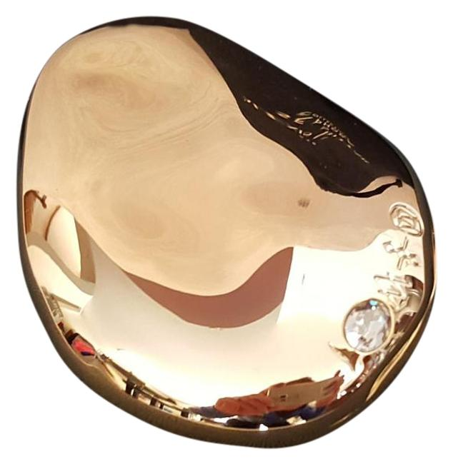 Item - Gold with Black Case Dual Mirror Made Exclusively For Sephora Rouge Members