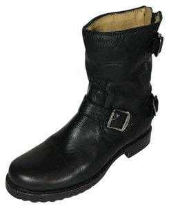 Frye Short Leather Stylish Black Boots