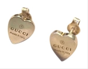Gucci Gucci Silver Heart Shaped Earrings - Ag925