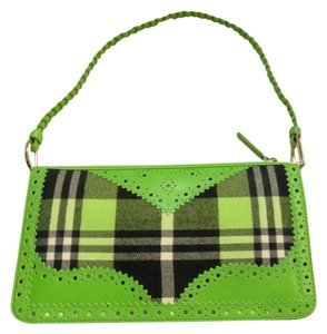 Dior Green Plaid Wingtip Leather Small Shoulder Bag