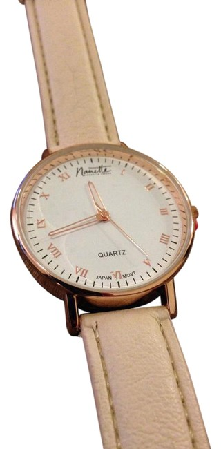 Item - Rose Gold/Beige With Beige/Nude Strap Watch