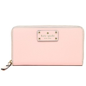 Kate Spade Kate Spade Wellesley Neda Zip Around Posy Pink Leather Wallet