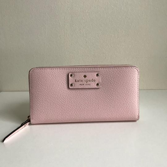 Kate Spade Kate Spade Wellesley Neda Zip Around Posy Pink Leather Wallet Image 1
