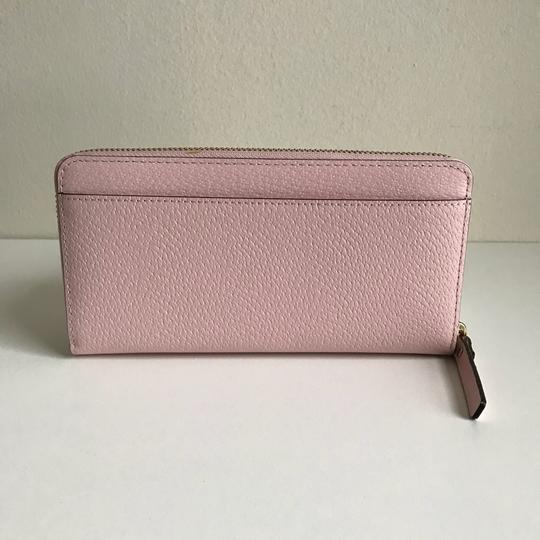 Kate Spade Kate Spade Wellesley Neda Zip Around Posy Pink Leather Wallet Image 2