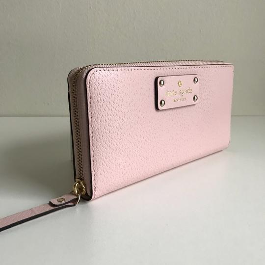 Kate Spade Kate Spade Wellesley Neda Zip Around Posy Pink Leather Wallet Image 3