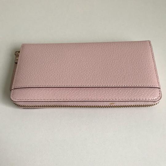 Kate Spade Kate Spade Wellesley Neda Zip Around Posy Pink Leather Wallet Image 4