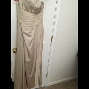 David's Bridal Tan/ Beige Dress