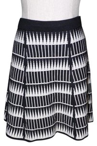 Max Studio A-line Skirt black/cream