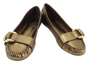 Saks Fifth Avenue Bronze Gold Flats