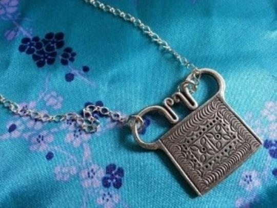 Other Human Spirit Soul Lock Necklace Fair Trade Hand Made Thailand Hmong Asian Tribal