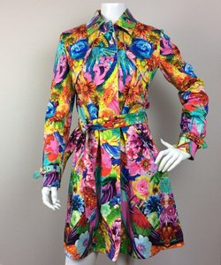 Roberto Cavalli Floral Trench Trench Coat