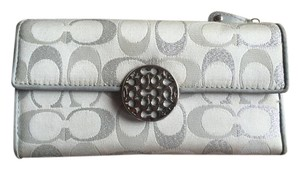 Coach Coach Alexandra Signature Sateen Tri Color Full Size Wallet