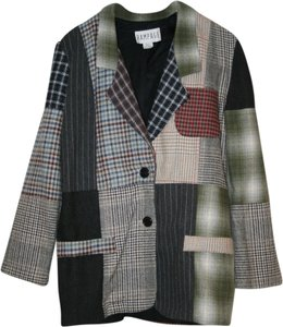 Rampage Patchwork Multicolor plaid Blazer
