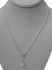 Tiffany & Co. Tiffany's Elsa Peretti Women's freshwater pearl & open heart lariat necklace18