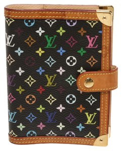 Louis Vuitton Louis Vuitton Black Multicolor Small Ring Mini Agenda Cover