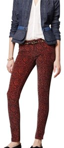 Anthropologie Corduroy Legging Skinny Pants Paisley