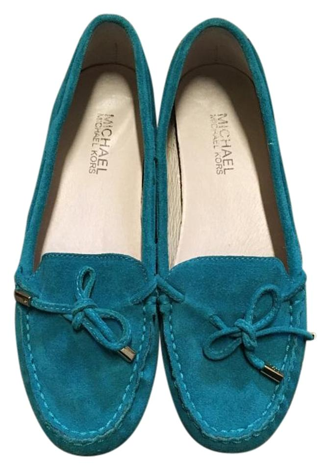 f3583d7904ea Michael Kors Teal  daisy  Loafer Flats Size US 7 Regular (M