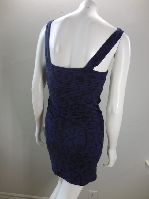 Free People short dress Purple Black Stretchy Sleeveless Bodycon Lined on Tradesy