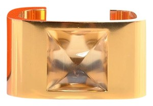 Hermès HERMES Gold Plated Saint Louis Crystal Circe Bracelet M