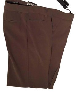 Express Wide Leg Pants Brown, taupe