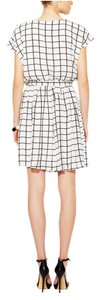 Alex + Alex short dress white Print Black Striped Printed on Tradesy
