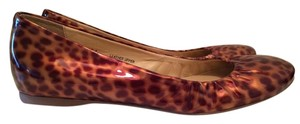 J.Crew Patent Leather Leopard Print brown/ gold Flats