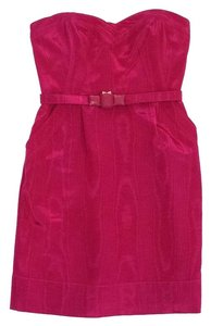 Rebecca Taylor short dress Fuchsia Strapless Belted on Tradesy