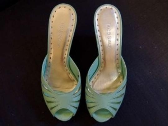 bcbgirls Wedges Pastel Cutouts icy teal Sandals