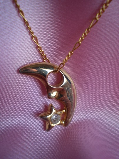 Other Like new moon & star w/crystals necklace