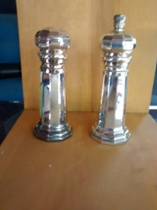 Silver Peppermill And Salt Shaker Set